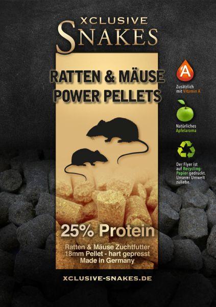 30KG - Ratten & Mäuse Zuchtfutter - 25% Proteinanteil - Harte 18MM Pellets