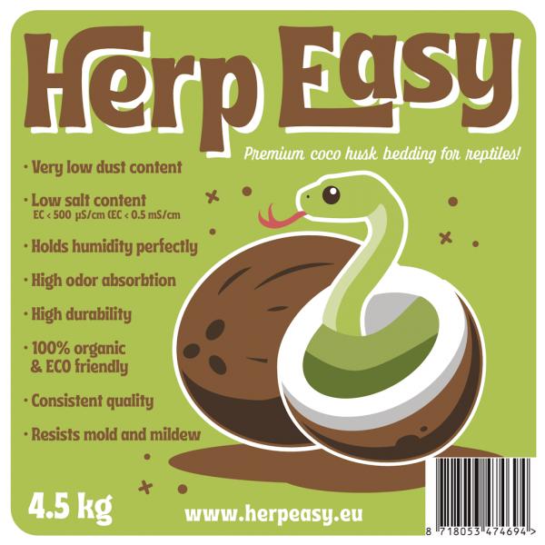herpeasy - Premium Cocos Einstreu 4,5 kg